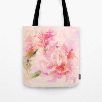 douces fleurs roses Tote Bag