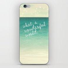 Wonderful World iPhone & iPod Skin