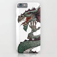 iPhone Cases featuring dragon by Erdogan Ulker