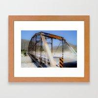 Green Spot Bridge Framed Art Print