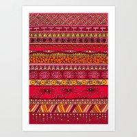 Yzor Pattern 013 Summer … Art Print