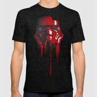 Procrastination In Red 1 Mens Fitted Tee Tri-Black SMALL