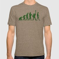 Missing Link Mens Fitted Tee Tri-Coffee SMALL