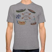 Adventures By Sail Or Pa… Mens Fitted Tee Athletic Grey SMALL