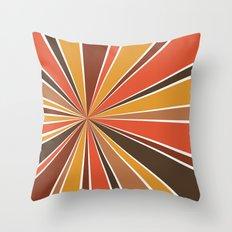 70's Star Burst Throw Pillow