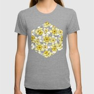 Daffodil Daze - Yellow &… Womens Fitted Tee Tri-Grey LARGE