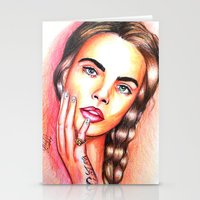 Cara Delevingne Stationery Cards