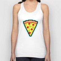 Pixel Pizza Unisex Tank Top