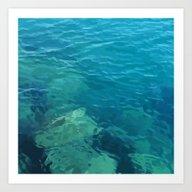 Beau Aqua Art Print