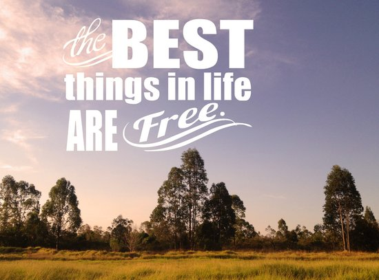 The Best things in life are free Art Print