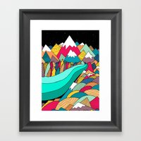 River In The Mountains Framed Art Print