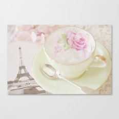 Paris Tea Canvas Print