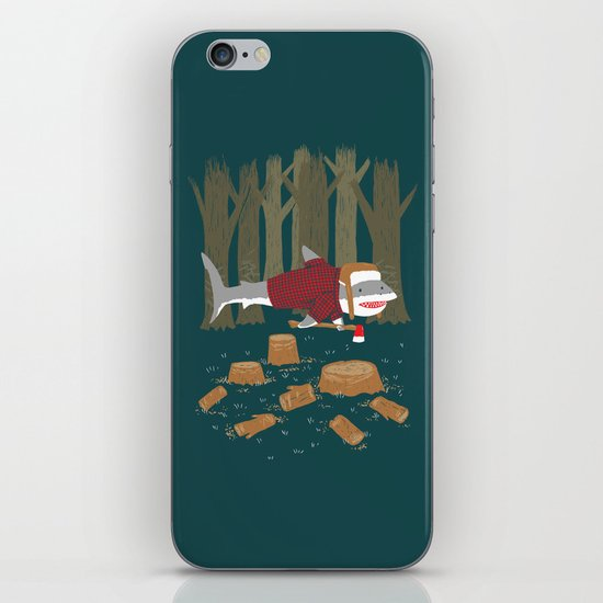 LumberJack Shark iPhone & iPod Skin