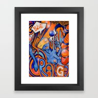 Blue-Orange Framed Art Print