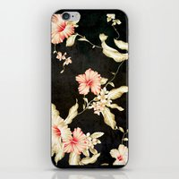 VINTAGE FLOWERS III - Fo… iPhone & iPod Skin