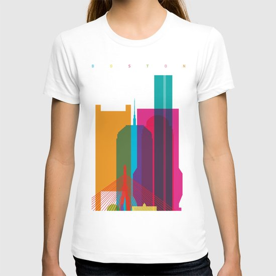 Shapes of Boston. Accurate to scale T-shirt