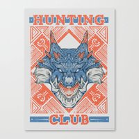 Hunting Club: Lagiacrus Canvas Print