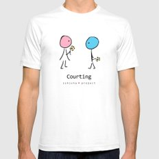 COURTING by ISHISHA PROJECT Mens Fitted Tee White SMALL