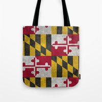 State flag of Flag of Maryland - Vintage retro style Tote Bag