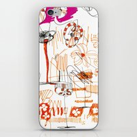 magenta and orange iPhone & iPod Skin