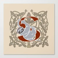 S Is For Sloth Canvas Print