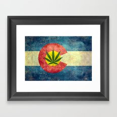 Retro Colorado State Fla… Framed Art Print