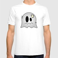 Cute Little Ghost Mens Fitted Tee White SMALL