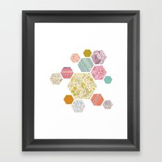 Summer honeycomb Framed Art Print