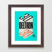Deltron3030 TBD Fest Poster Framed Art Print