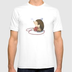Hedgy Mens Fitted Tee White SMALL