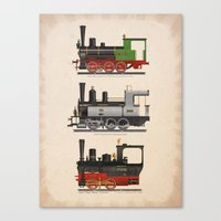 Groovy locomotives Canvas Print