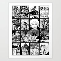 WHITE - A nne Frankenstein Book I - Resurrection Art Print