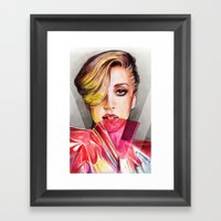 V Mag Framed Art Print