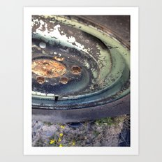 Forgotten Wheel Art Print