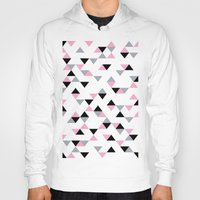 Triangles Black and Pink Hoody