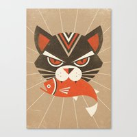 The Demon Cat (Fairy And… Canvas Print