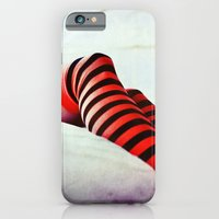 iPhone & iPod Case featuring Stripy socks by Innershadow Photography