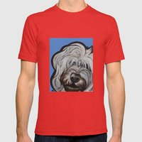 Louie Mens Fitted Tee Red SMALL