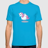 UNICORNS ARE KEWL  Mens Fitted Tee Teal SMALL