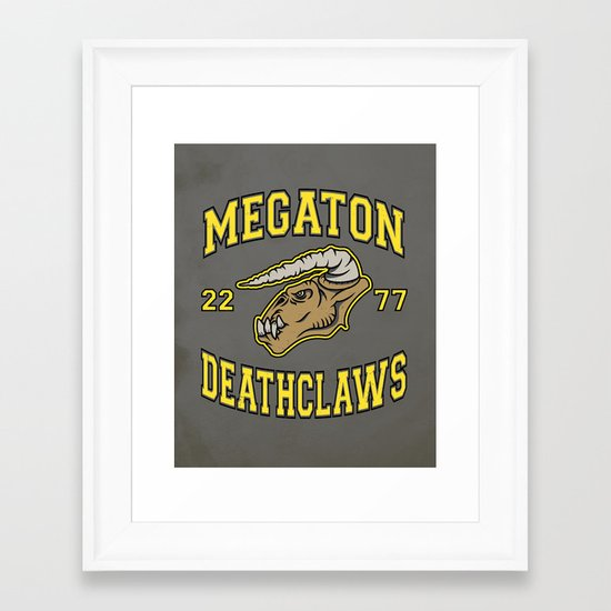 Megaton Deathclaws Framed Art Print