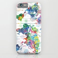 world map mandala white Slim Case iPhone 6s