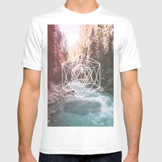River Triangulation Mens Fitted Tee White SMALL
