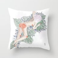 Lavender Girl Throw Pillow