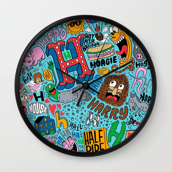 H Pattern Wall Clock