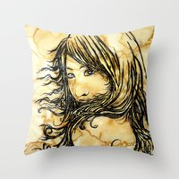 Tea Breeze Throw Pillow