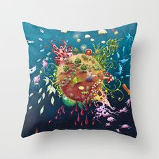 tales 's planet Throw Pillow