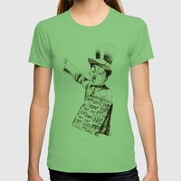 The POPO' Paperboy Womens Fitted Tee Grass SMALL