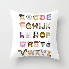 Futuralpha Throw Pillow