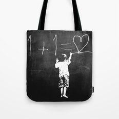 One Plus One Equals Love Tote Bag