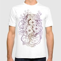 Flowernest zentangle Mens Fitted Tee White SMALL